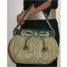 Moschino adorable medium sized green bag with leather bow