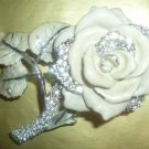 NEW Jay Strongwater White Rose Swarovski crystal Box