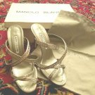 $995 New in box Manolo Blahnik rhinestone strappy sandals