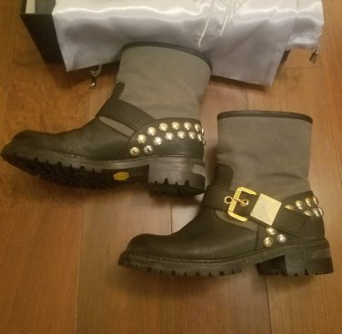 Giuseppe Zanotti $1295 barely worn moto boots brass studs