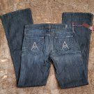 """New with Tags Seven Jeans with """"A"""" back pockets in Swarovski crystals"""