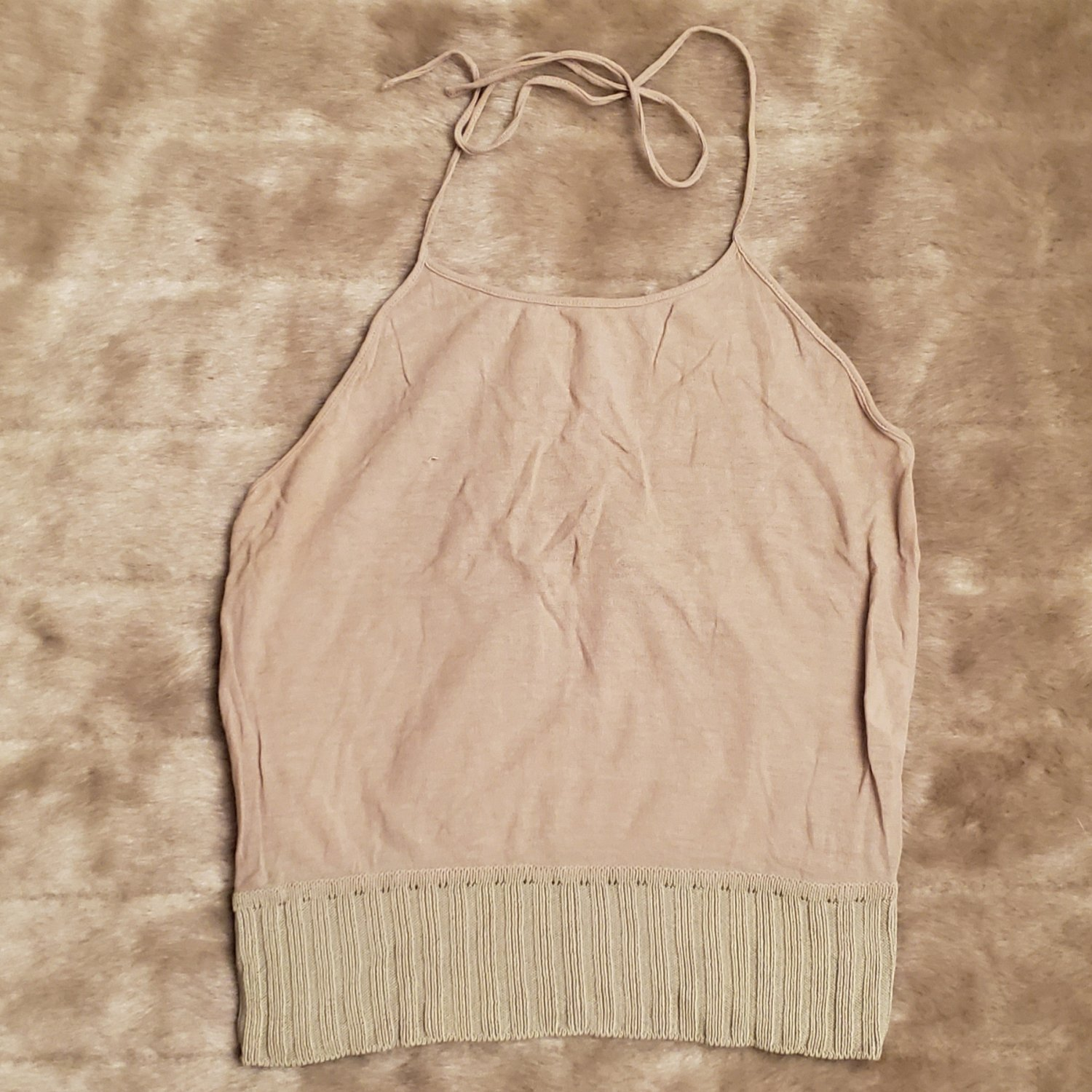Valentino breezy natural color halter top