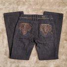 Antik rhinestone pocket bedazzled jeans