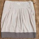 Brunello Cucinelli striped, contrast band skirt