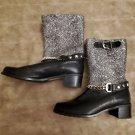 NWT $475 Stuart Weitzman Citylink tweed Moto boots