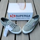 Superga new in box platform gray canvas sneakers