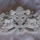 Shabby Cherub Florintine Chic Vintage Pediment Header Swag