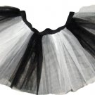 Black White Striped TUTU SKIRT Gothic Goth Punk Cyber Rave