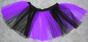 Purple Black Stripe TUTU SKIRT Punk Cyber Rave Gothic Goth EMO