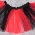 RED Black Striped TUTU SKIRT Gothic Punk Cyber Rave SALE