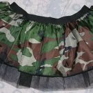Tutu Skirt Fancy Army camouflage dance club disco punk