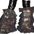 Army Camouflage fluffy tutu leg warmers Boot Cover club