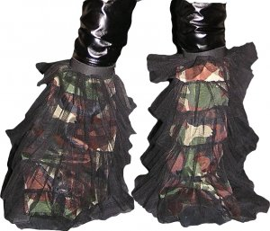 Army Camouflage fluffy tutu leg warmers Boot Cover club