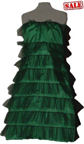 Green Fancy tree tutu type dress costume punk cyber rave disco club dance party