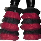 Fluffy typ Leg warmers Boot Cover Red Black Rave dance party Clubwear Neon Cyber EMO PUNK GOTHIC