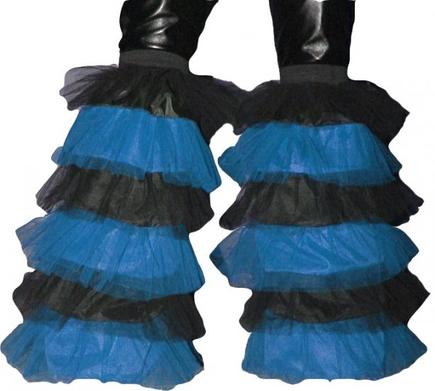 Fluffy typ Leg warmers Boot Cover TORQUES Black Rave dance party Clubwear Neon Cyber EMO PUNK GOTHIC