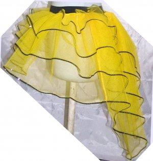 Tutu Skirt Peacock sequin bumble bee Yellow Halloween Neon UV Fancy dress costume hen night party