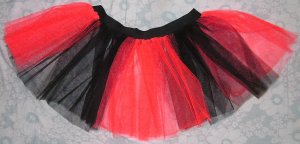 Christmas Xmas RED Black Striped TUTU SKIRT Gothic Punk Cyber Rave SALE
