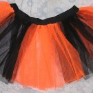 Christmas Xmas Tutu skirt NEON UV ORANGE Striped dance club disco punk