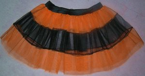 ORANGE TUTU SKIRT PETTICOAT DANCE RAVE CYBER NEON UV FL