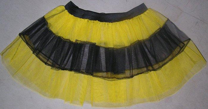 YELLOW TUTU SKIRT PETTICOAT DANCE RAVE CYBER BUMBLE BEE