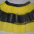 YELLOW TUTU SKIRT PETTICOAT DANCE RAVE CYBER BUMBLE BEE