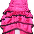 Hot Pink Corset Celebrity evening Cocktail Party Dress Dance Bustle Designer