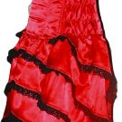 Red Corset Celebrity evening Cocktail Dance Party Dress Punk Gothic Valentine day queen of heart