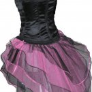 Baby Pink Black Peacock Tutu Skirt Bustle Petticoat tone dance rave hen party