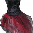 Red Black Peacock Tutu Skirt Bustle Petticoat tone dance rave hen Dance Clubwear party heart Queen