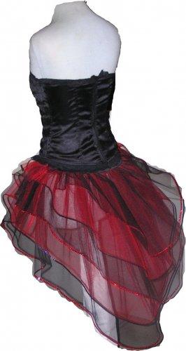 Red Black Peacock Tutu Skirt Bustle Petticoat tone dance rave hen Dance Clubwear party heart Queen