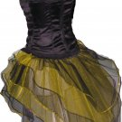 Yellow Black Peacock Tutu Skirt Bustle Petticoat tone dance rave hen Clubwear party Bumble Bee