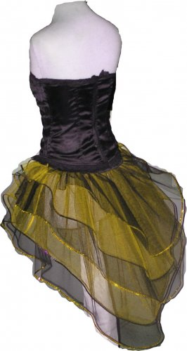 Yellow Black Peacock Tutu Skirt Bustle Petticoat tone dance rave hen Clubwear party Bumble Bee