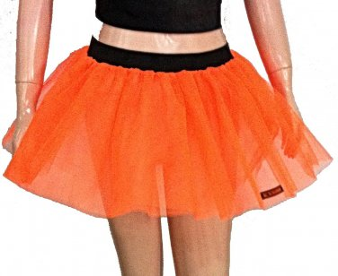 Neon Uv Orange Tutu Skirt Petticoat Multi Layers Fancy Costumes Dress Dance Party Free Shipping