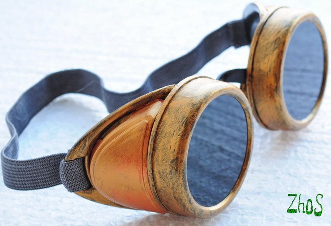 Steampunk Cyber Goggles Glasses Cosplay Anime Rave  25