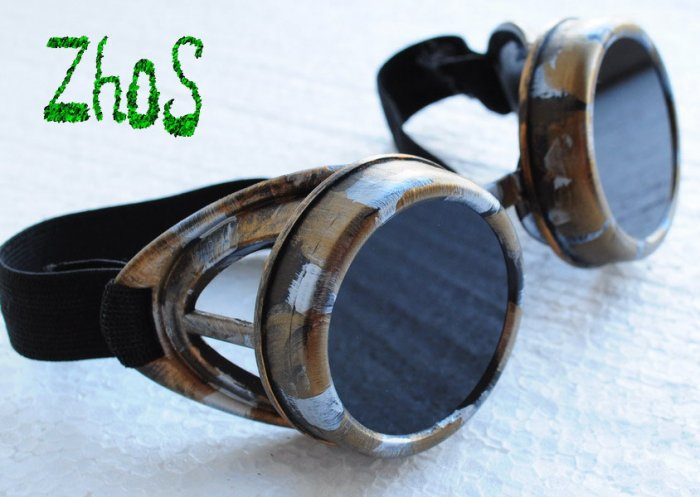 Steampunk Cyber Goggles Glasses Cosplay Anime Rave Larp 27