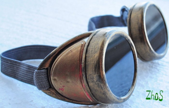 Steampunk Cyber Goggles Glasses Cosplay Anime Rave Larp