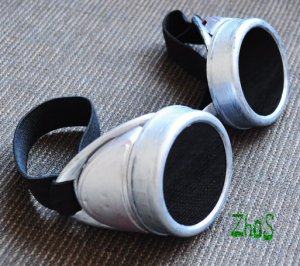 Steampunk Cyber Goggles Glasses Cosplay Anime Rave Larp 44