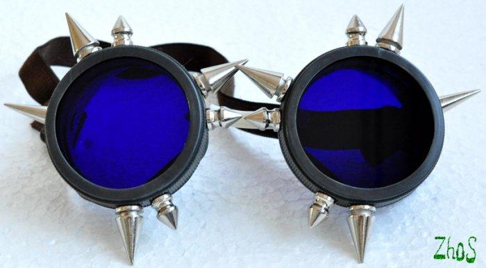 Cyber Goth Goggles Spikes CyberPunk