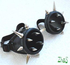 Cyber Goth Goggles Glasses 18 Spikes CyberPunk Industrial Noise Dark Wave Dark Mage 2