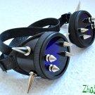 Cyber Goth Goggles Glasses 12 Spikes CyberPunk Industrial Noise Dark Wave Dizelpunk  7
