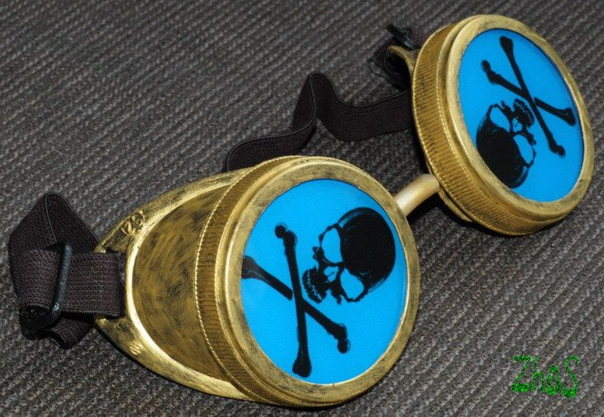 Cyber Goggles Steampunk Cosplay Anime Rave SKULL 68