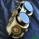 Steampunk Goggles Glasses Cyber post Apocalypse mad professor Gear wheels watch