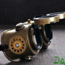Steampunk Goggles Glasses Cyber post Apocalypse bronze gold Gear wheels watch