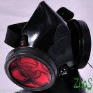 Cyber Gothic Mask Respirator Gas Mask Goth Biohazard Fetish Dub Larp COSPLAY
