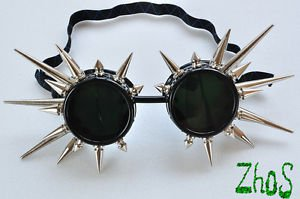 Cyber Goggles Cyber Goth Gothic Glasses Spikes Cosplay Blacks Industrial Fetish