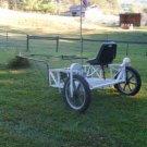 Custom Built 1 Horse Cart w/Harness Solid Construction