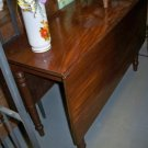 Early Antique C1850 Drop Leaf Walnut Table