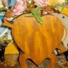 Antique Primitive Handmade Wooden Heart Bank NR