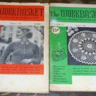 9 Vintage Work Basket Magazines, 1955 Crafts Etc